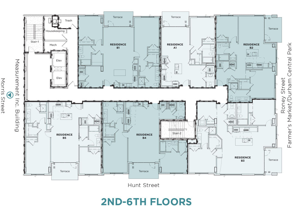 2nd-6th floors